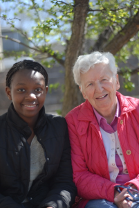 Sister Mary with one of the girls from Sophia Academy.